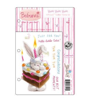 Crafter's Companion Bebunni EZMount Cling Stamp Set Yum Yum Yum