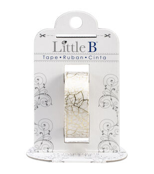 Little B Foil Tape 15mmX10m-Gold Crackle