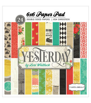 "Carta Bella Paper Pad 6""X6"" 24/Pkg-Yesterday"