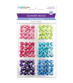Craft Medley Daisy Bling Disco Ball Bead Variety Pack