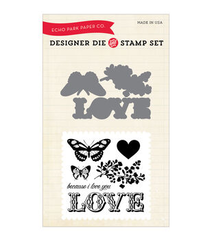 Carta Bella Die & Stamp Combo Set-Words Of Love, Because I Love You