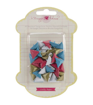 Styleboard Metal Studs 40/Pkg-Triangle - 4 Colors