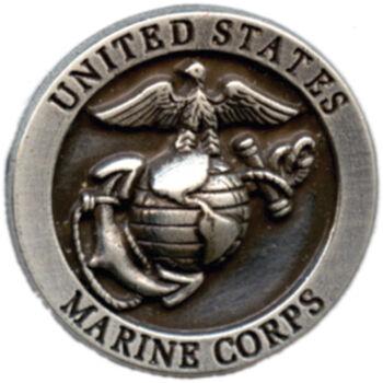 Silver Creek Concho Antique Silver US Marine Corps
