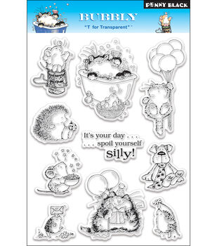 """Penny Black Clear Stamps 5""""X7.5"""" Sheet-Bubbly"""