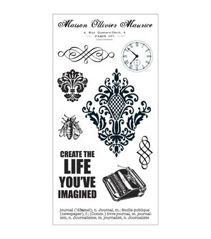"Fiskars Teresa Collins Cling Stamps 4""X8"" Sheet-Maison"