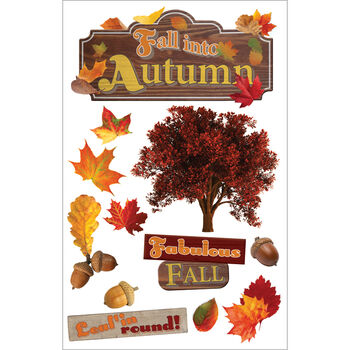 Fall Into -3d Stickers