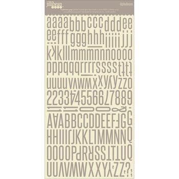 Jillibean Soup Alphabeans Large Cardstock Stickers