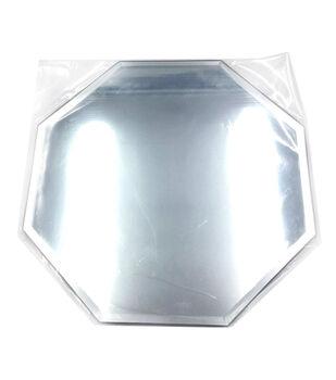"Octagon Glass Mirror W/Bevel Edge 8""-Bulk"