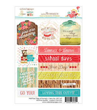 "Hall Pass Stickers 4""X6""-Tags & Prompts"