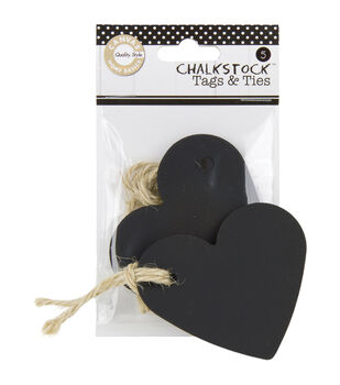Chalk 5/Pk-Tags & Ties Heart