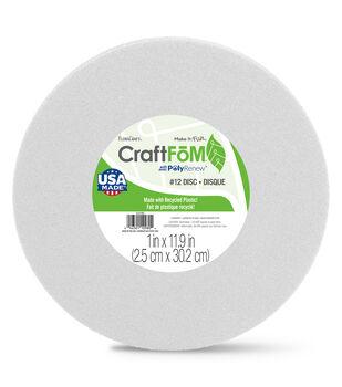Styrofoam Disk 12'' x 1''-White