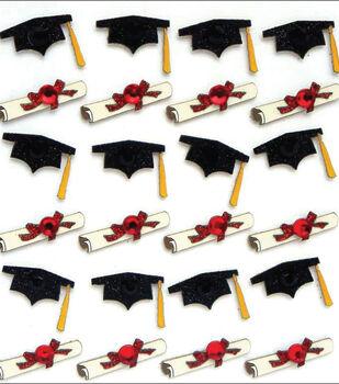 Jolee's Boutique Dimensional Mini Repeats Stickers-Graduation
