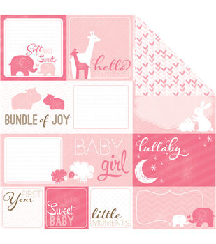 """My Baby Girl Double-Sided Cardstock 12""""X12""""-Cut-Outs"""
