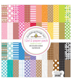 "12""x12"" Kraft in Color Paperpack - 24 sheets"