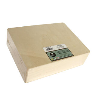 Walnut Hollow Basswood Box-12''x3.25''x9''/Hinged Box