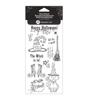 "Outlines Clear Stamp Set 4""X8"" Sheet-The Witch Is In"