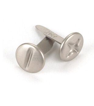 Metal Paper Fasteners-25PK/Pewter Screw Heads