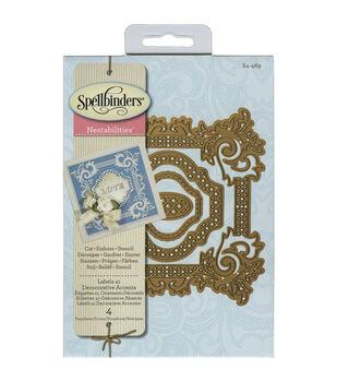 Spellbinders Nestabilities Labels 41 Decorative Accents Dies