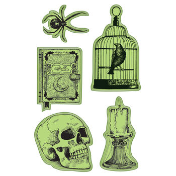 Inkadinkado Halloween Cling Stamp Nevermore