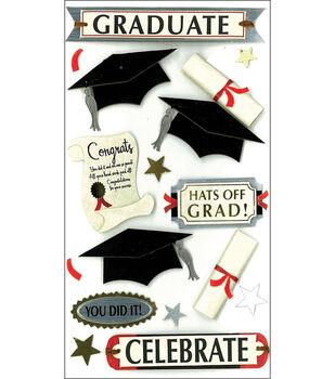 Jolee's Boutique Le Grande Dimensional Stickers-Graduate Celebrate