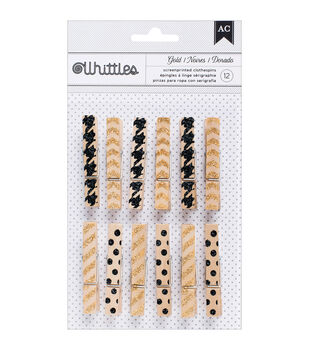 American Crafts Whittles Trendy Clothespins