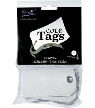 "Small White Tags 25/Pkg-1-5/8"" X 3-1/4"""