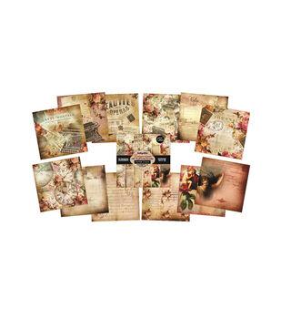 IndigoBlu Emporium Of Curiosities Paper Stack Cardstock 12''x12''