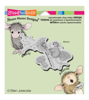 """Stampendous House Mouse Cling Rubber Stamp 3.5""""X4"""" Sheet-Make A Wish"""