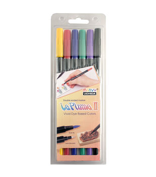Leplume II 6 Piece Double Ended Marker Set Classic Colors