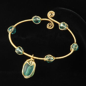 The Beadery Whimsical Wire Bracelet Kit Turquoise