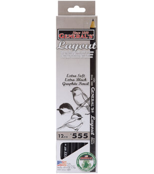 Layout Graphite Drawing Pencils 12/Pkg-2B