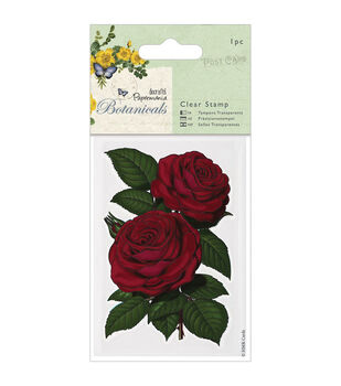 "Papermania Botanicals Clear Stamps 2.75""X4""-Red Rose"