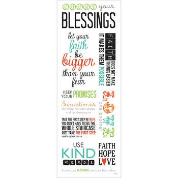Momenta Vellum Stickers Sheet Blessings