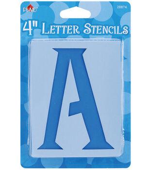 Plaid 4'' Mailbox Letter Stencils-Genie Letter