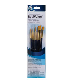 Real Value Brush Set Synthetic Gold Taklon 11x2-3/4 inch