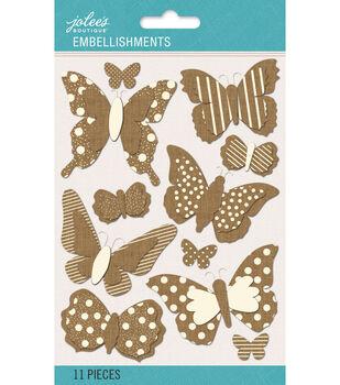 Jolee's Boutique - Patterned Burlap Dimensional Butterflies