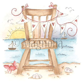 Magnolia Sea Breeze Cling Stamp Chair In The Sunset