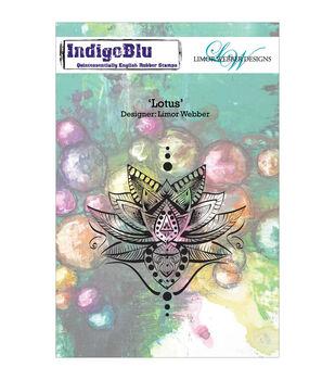 Indigoblu Lotus Cling Mounted Stamp