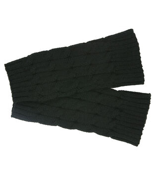 Laliberi Winter Knit Fingerless Gloves In Black
