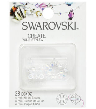4mm Create Your Style Swarovski Bicone Beads-Crystal Beads 30/pk