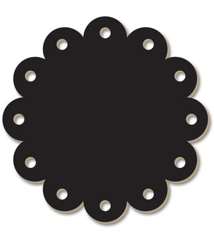 Adorn-It Chalkboard Surfaces Scallop Circle