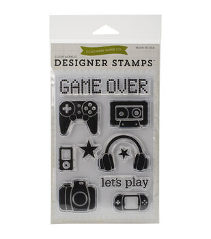 Echo Park Paper Company Game On Stamps 4''x6''