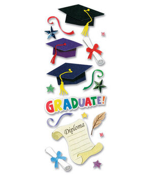 A Touch of Jolee's Dimensional Stickers-Graduation