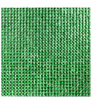 Dazzling  Resin Jewel Self Adhesive Sheet-Kelly Green