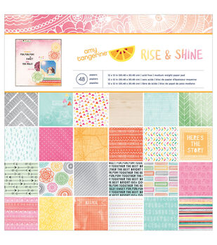 American Crafts Amy Tan Rise & Shine Paper Pad 12''x12''