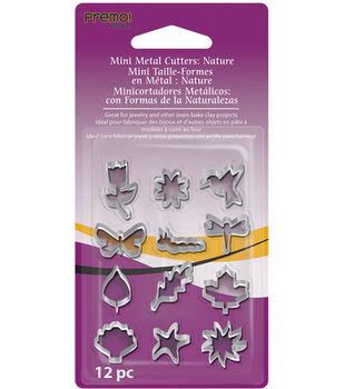 Premo Mini Metal Cutters 12/Pk-Nature