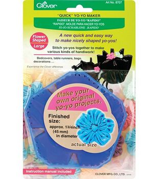 Clover® Quick Yo Yo Maker-Flower Shaped-Large
