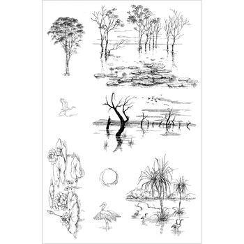 Crafter's Companion Stamp-It Australia EZMount Stamp Lucious Landscapes