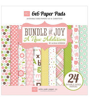 Echo Park Paper Company Bundle Of Joy A New Addition Baby Girl Paper Pad