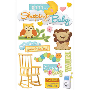 Paper House 3D Sticker Sleeping Baby